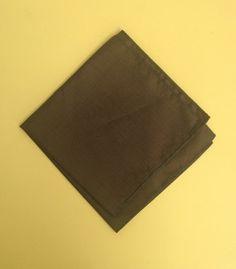 Moss Army Green Cotton Rayon Handkerchief 1950s 1960s Deep Green Pocket Square…