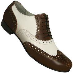 b8795fc76bd0 Aris Allen Men s 1930s Brown and Ivory Spectator Wingtip Dance Shoe  Spectator Shoes