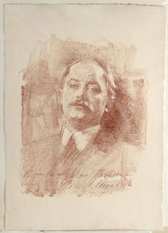 Portrait drawing by John Singer Sargent,...
