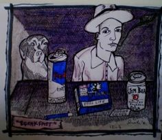 Munich Artists Like to Drink and Draw | Munich Artists - self portrait by Mark the K
