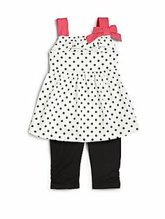 Nicole Miller Infant's Two-Piece Polka Dot Tunic & Leggings Set
