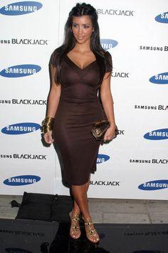 Kim Kardashian wearing Diane Von Furstenberg Dress. Kim Kardashian Samsung Blackjack Launch November 14 2006.