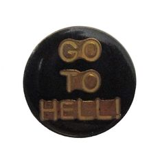 """GO TO HELL! vintage lapel cloisonne enamel pin evil 666 satan by VintageTrafficUSA  14.00 USD  A vintage 100% Devil pin! used but decent condition. Measures: approx 1"""" Add inspiration to your handbag tie jacket backpack hat or wall. Have some individuality = some flair! -------------------------------------------- SECOND ITEM SHIPS FREE IN USA!!! LOW SHIPPING OUTSIDE USA!! VISIT MY STORE FOR MORE ITEMS!!! http://ift.tt/1PTGYrG FOLLOW ME ON FACEBOOK FOR SALE CODES AND UPDATES…"""