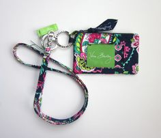 *New With Tags*Vera Bradley Zip ID Case and Lanyard in Petal Paisley #VeraBradley
