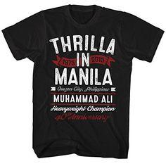 """Muhammad Ali """"Thrilla In Manila"""" T-Shirt - Black"""