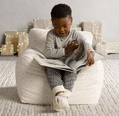 printed bean bag chair. the coziness of a club chair, the body-hugging comfort of a bean bag. #rhbabyandchild