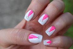 white and pink nails   ... Midnite : Jackie Giardina : White & Pink Nail Art : Born Pretty Store