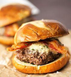 Bacon Parmesan Garlic Burger