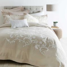 One of the largest home linen specialists in Australia - browse our range of quality bedding, bed linen, living & home decor. Quilt Cover Sets, Quilt Sets, Time Shop, Large Homes, Pillow Talk, Bed Covers, Designs To Draw, Linen Bedding, Classic Style