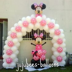 minnie mouse balloon arch | Juju-Bee's Balloon Decorating