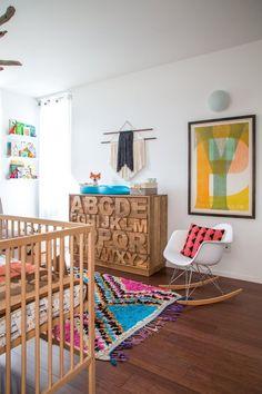 New Ideas Apartment Therapy Nursery Nursery Room, Girl Nursery, Girl Room, Kids Bedroom, Baby Room, Nursery Decor, Kids Rooms, Alphabet Nursery, Wood Nursery