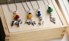 Harry Potter Necklace- Inspired Hogwarts House Charms