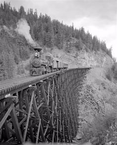 Vintage Photographs of the Incredible Railroad Bridges With Timber Trestles From the 19th and Early 20th Centuries ~ vintage everyday