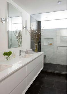 Beautiful Bathroom Design with White Vanity