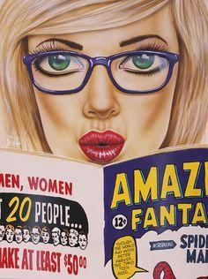 """bibliolectors: """"Women readers of comics /Lectoras de cómics (ilustración de Scott Rohlfs) """""""