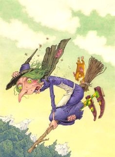 Nick Price –Illustrator for Childrens Books and Animation Films Vintage Halloween Images, Whimsical Halloween, Halloween Artwork, Halloween Rocks, Halloween Drawings, Halloween Pictures, Spooky Halloween, Witch Pictures, Happy Halloween