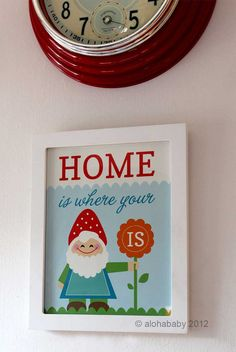 Home is where your gnome is  8x10 art print by alohababydesign, $12.00