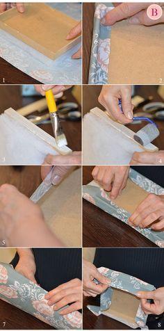 No D.I.Y de hoje mostrarei o passo a passo para fazer lindas caixas forradas com tecido e perfeitas para cosméticos e maquiagens