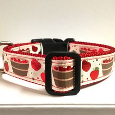 Bob for apples collar by PawsNClawsCouture on Etsy