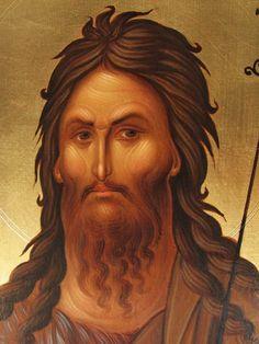 Photo: CN 034 - St.John The Baptist (detail) Religious Images, Religious Icons, Religious Art, Byzantine Icons, Byzantine Art, Greek Icons, Bible Pictures, John The Baptist, Historia