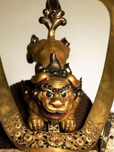 The detail of a Samurai's helmet, 1560s, Japan