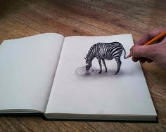These drawings will definitelly take your breath away! Dutch artist Ramon Bruin is the master of optical illusion drawing and drawing. 3d Pencil Art, 3d Pencil Drawings, Cool Drawings, Amazing Drawings, Unique Drawings, Easy 3d Drawing, Drawing Eyes, Illusion Drawings, 3d Optical Illusions