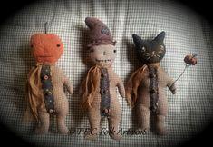 Halloween Doll, Fall Halloween, Halloween Crafts, Halloween Ideas, Halloween Decorations, Halloween Fabric, Halloween Ornaments, Halloween Patterns, Halloween 2019