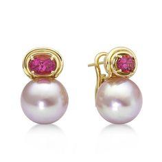 Kasumiga Pink Pearl Earrings