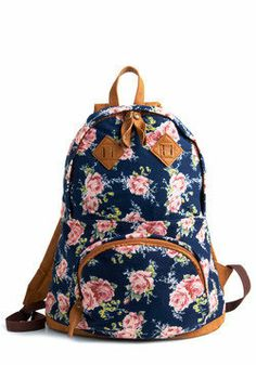cute backpacks/flowers/blue/pink/brown/vintage
