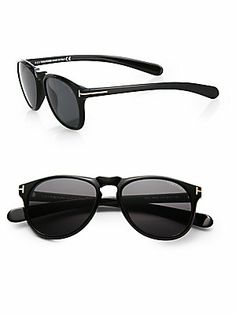 Tom Ford Eyewear Wayfarer-Inspired Plastic Sunglasses