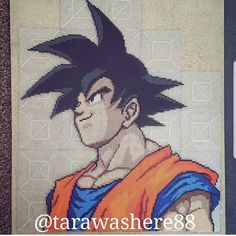 Throwback to the first big dbz perler I made. I really thought it wasn't going to get better than this when I made it. Little did I know it would become my standard haha #perler #perlerbeads #hama #hamabeads #artkal #artkalbeads #fusebeads #dbz #dragonball #dragonballz #dragonballsuper #dbs #goku