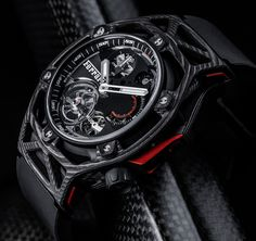 Hublot Techframe Ferrari Tourbillon Chronograph Watch Celebrating Ferrari's 70th Anniversary. Fresh article about it already up on the site..
