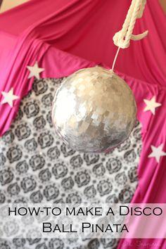 tutorial:  how to make a Disco Ball Pinata  {Girl. Inspired}