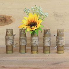 Shotgun Shell Boutonnieres Set of 5 handmade by Boone Dock Designs