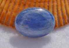 Blue kyanite cabochon