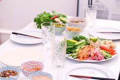 Dinner with the girls // Vietnamese spring rolls