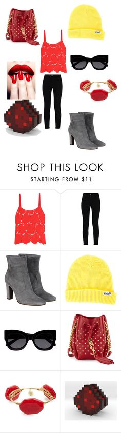 """""""olivia from minecraft story mod"""" by elinakitty67 on Polyvore featuring Alice + Olivia, STELLA McCARTNEY, L'Autre Chose, Neff, Karen Walker, Dolce&Gabbana, Yves Saint Laurent, Bourbon and Boweties and Redstone"""