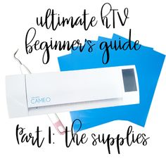 If you're a heat transfer vinyl beginner, you've come to the right place! First up: The supplies you'll need for your first heat transfer vinyl project! Making Shirts, How To Make Tshirts, Vinyl Crafts, Vinyl Projects, Cricut Htv, Silhouette Cameo Projects, Heat Transfer Vinyl, Tutorials, Cover