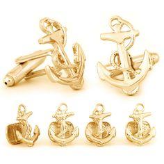 Mens Ship Propeller Sailor Cufflinks /& Gift Box By Onyx Art