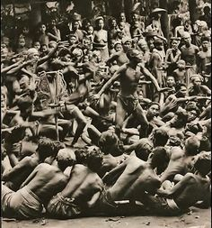 Kecak performance Bali 1930