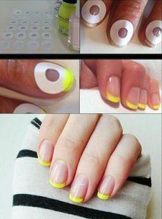 Super How To French Manicure Diy Beauty Nails Ideas Manicure Tips, Manicure Colors, Manicure At Home, Nail Tips, Nail Polish Hacks, Home Nail Salon, Diy Nails At Home, Nail Art Hacks, Do It Yourself Nails