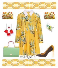 """""""The Birds and the Bees"""" by scope-stilettos ❤ liked on Polyvore featuring Fendi, Manolo Blahnik, York Wallcoverings and Dolce&Gabbana"""