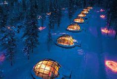 Igloo village at Hotel Kakslauttanen in Lapponia