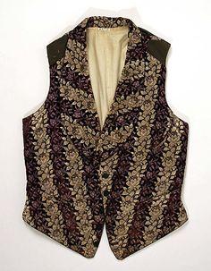 Vest  Date: third quarter 19th century Culture: French (probably) Medium: silk, cotton  Metropolitan Museum of Art   Accession Number: C.I.43.7.13