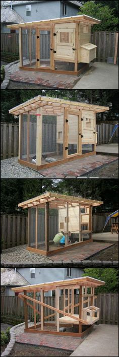 15 More Awesome Chicken Coop Designs and Ideas Cool DIY Homesteading Projects by Pioneer Settler at Chicken Coop Designs, Backyard Chicken Coops, Chickens Backyard, Backyard Ideas, Diy Chicken Coop Plans, Pallet Chicken Coops, Urban Chicken Coop, Chicken Coop Blueprints, Easy Chicken Coop