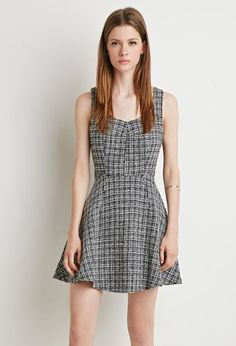 Vestido sin Mangas Tweed Fit