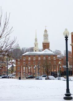 Historical Providence in the snow. #VisitRhodeIsland