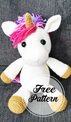Amigurumi Jazzy the unicorn free crochet pattern part crochet amigurumi; amigurumi german free in Mini Amigurumi, Crochet Amigurumi, Amigurumi Patterns, Amigurumi Doll, Crochet Dolls, Amigurumi Free, Doll Patterns Free, Crochet Animal Patterns, Stuffed Animal Patterns