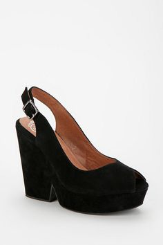 Jeffrey Campbell Babs Slingback Platform Wedge  #UrbanOutfitters  ....Babs?
