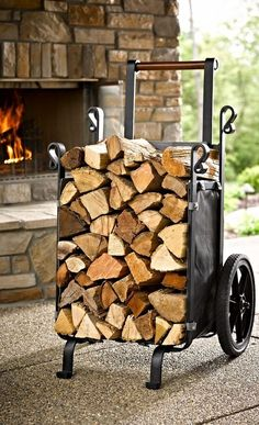 Save trips – and your back – when moving large loads of logs with our exclusive, heavy-duty Firewood Companion. Save trips – and your back – when moving large loads of logs with our exclusive, heavy-duty Firewood Companion. Firewood Holder, Firewood Storage, Firewood Basket, Metal Projects, Welding Projects, Diy Welding, Welding Tools, Metal Welding, Diy Projects